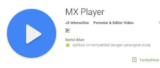 Aplikasi video player terbaik android, mx player