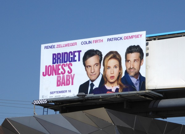 Bridget Jones Baby movie billboard