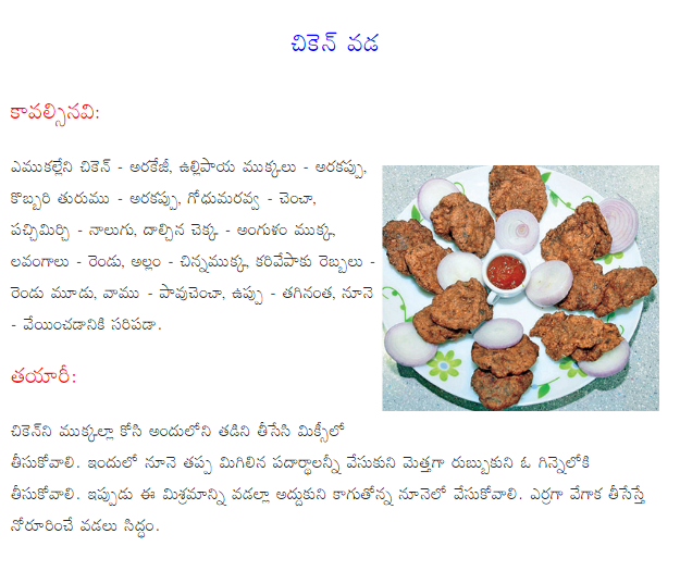 Healthy food recipes chicken pakoda recipe in telugu chicken pakoda recipe in telugu forumfinder Gallery