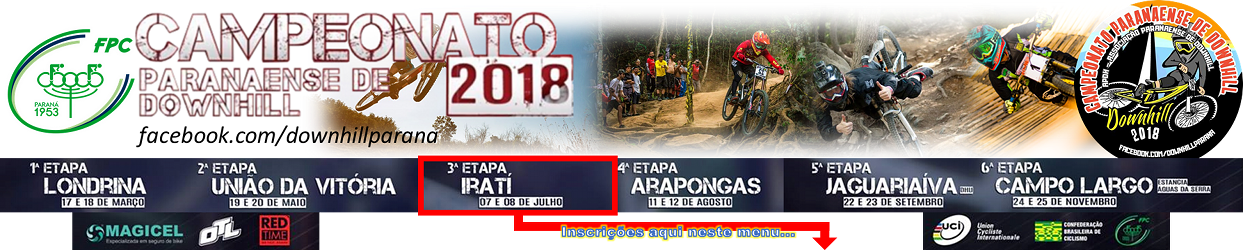 Banner do Campeonato Paranaense de DH 2018
