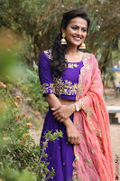 Actress Shraddha Srinath in Purple Chania Choli Cute Pics ~  Exclusive 34.jpg