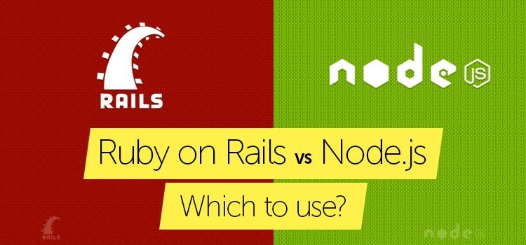 ruby on rails vs node.js banner