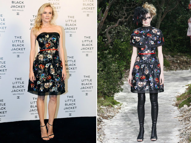 Diane Kruger in Chanel - Spring 2013 Couture - Chanel Little Black Jacket Brazil Event