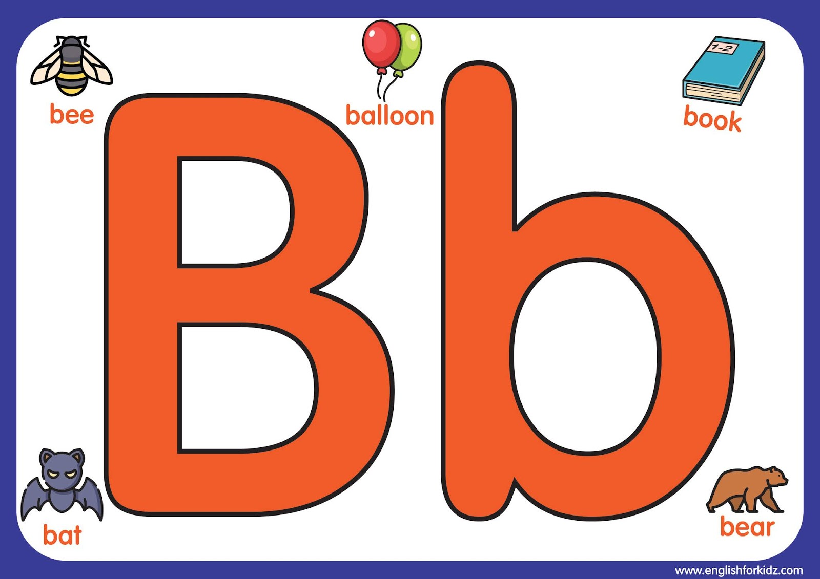 English For Kids Step By Step Letter B Worksheets Flash