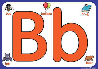 Letter b - big printable alphabet letters