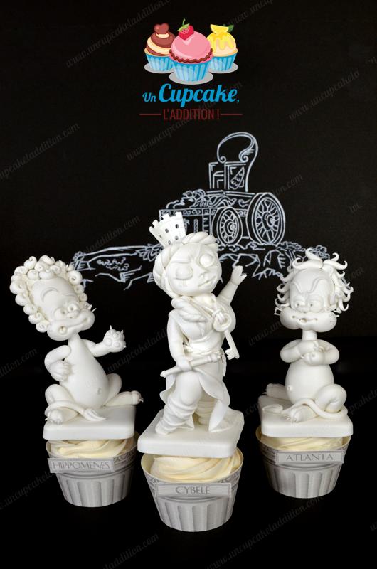 Cupcakes « Cybèle, Atalante et Hippomène »