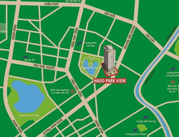 Vị trí chung cư Hà Đô Park View Dịch Vọng