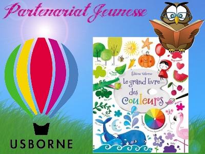 Le grand livre des couleurs Usborne avis critique blog chronique apprentissage