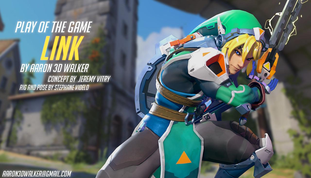 Imaginan cómo se vería Link dentro de Overwatch