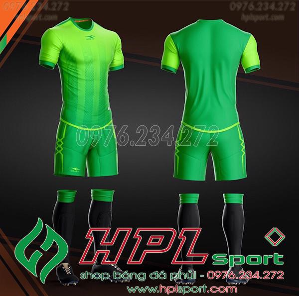 Áo bóng đá không logo KeepFly Snake màu xanh lá