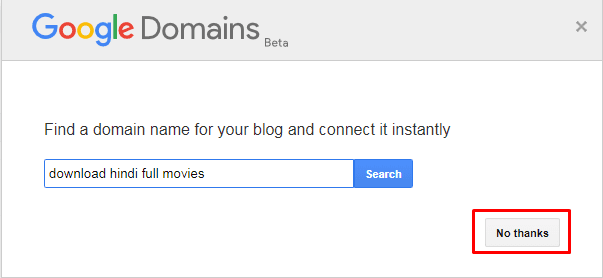 Google Domain Beta