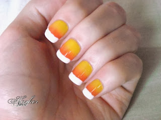 candy corn gradient for halloween