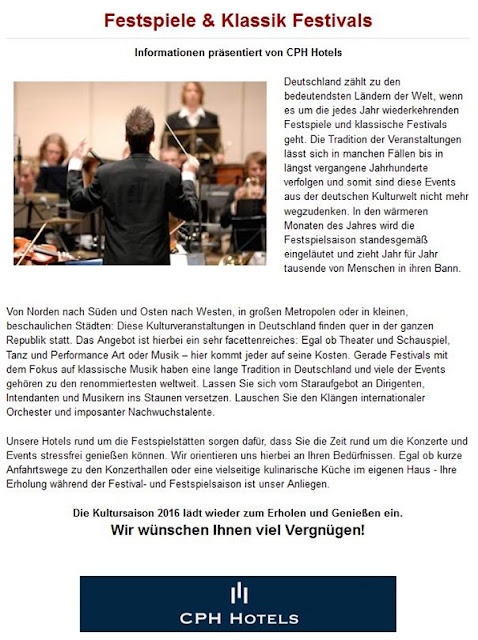 Festspiele Deutschland, Kulturveranstaltungen Deutschland