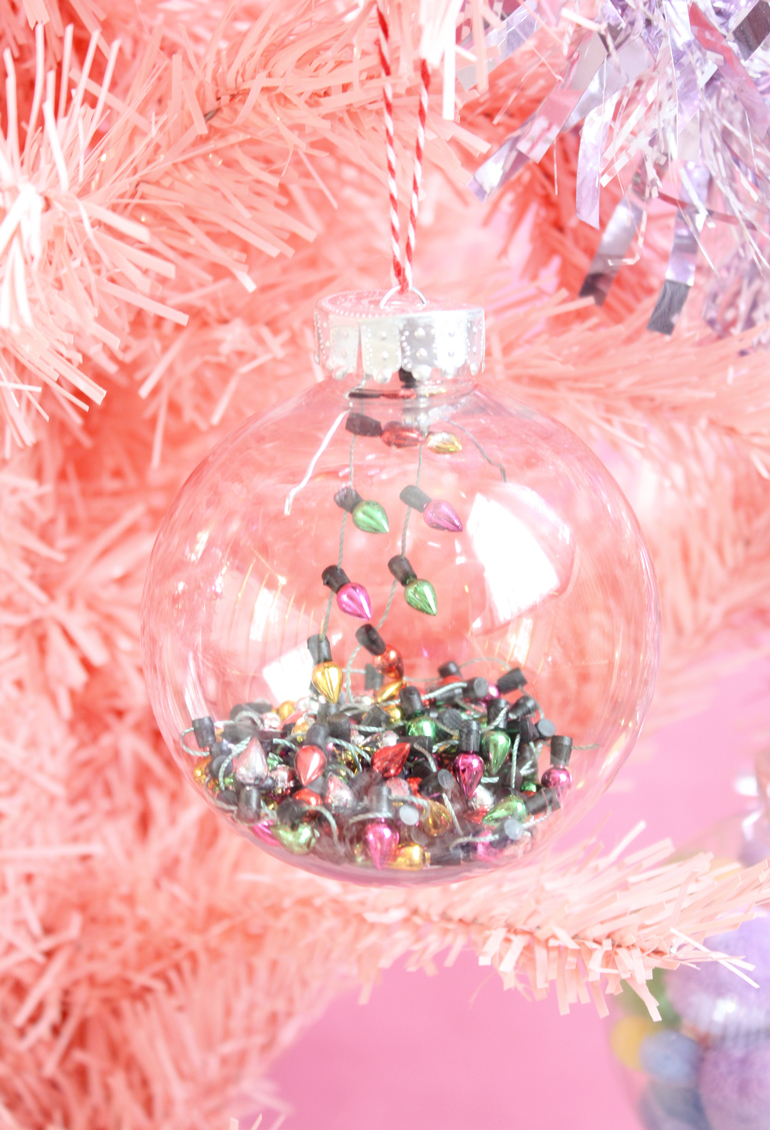 diy bauble mix christmas lights
