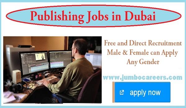 Latest publishing jobs for fresh graduates, New job openings in Dubai,