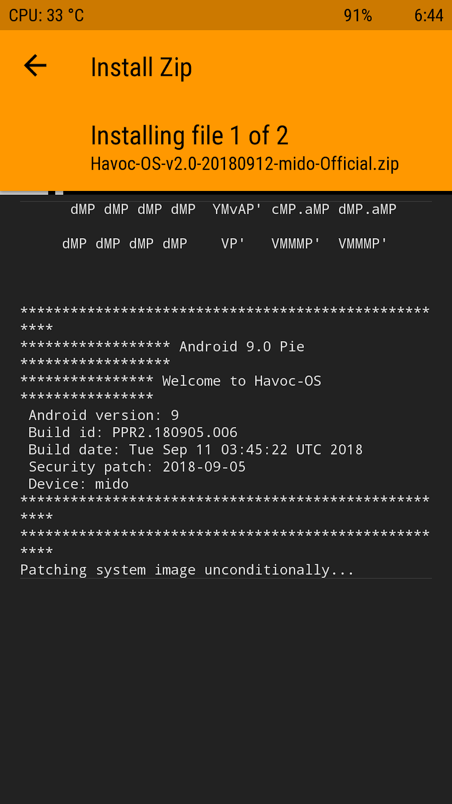 Havoc-OS v2 0 Official Pie ROM for Mido by @Sagarrokade006