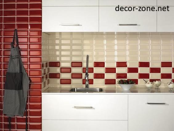 red tile backsplash red white kitchen backsplash tile ideas awesome kitchen backsplash ideas decoholic
