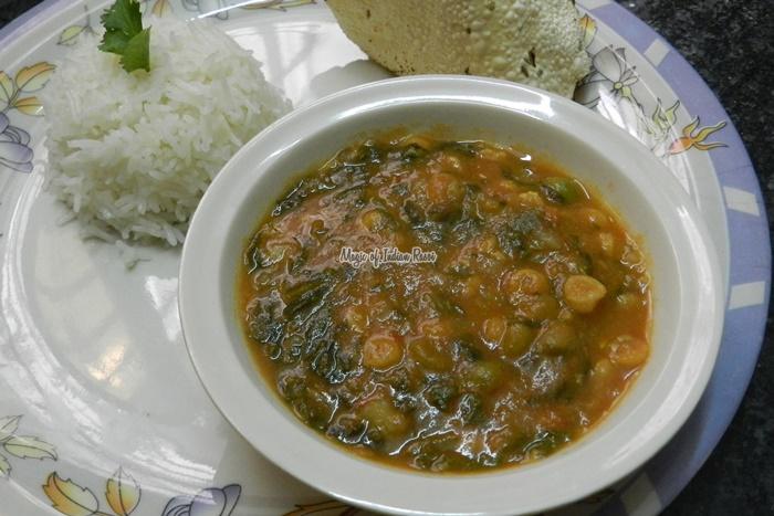 सिंधी साई भाजी | चना दाल और पालक सब्जी | Sindhi Sai Bhaji Recipe in Hindi - Priya R - Magic of Indian Rasoi