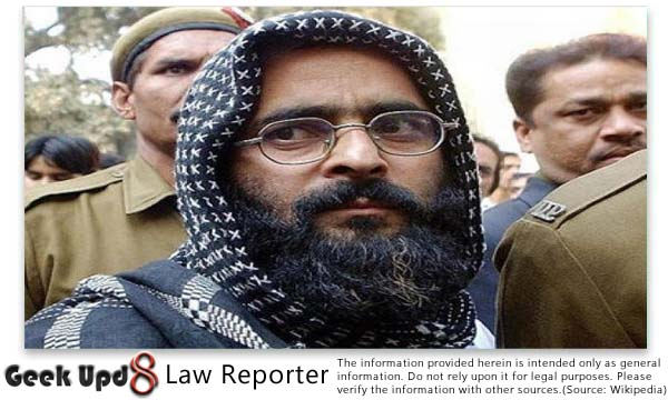 Afzal Guru (Indian Parliament Attack Case Convict) Hanged in Tihar Jail Delhi on 9 Feb, 2013 at 8:00 AM IST