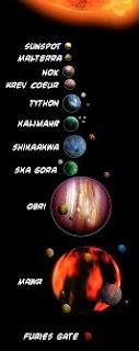 A Tython rendszer bolygói