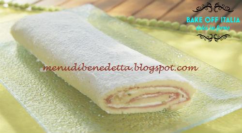 Rotolo di zabaione pinoli e pistacchi ricetta D'Onofrio da Bake Off Italia 5