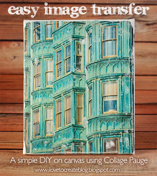 Easy Image Transfer On Canvas Using Collage Pauge