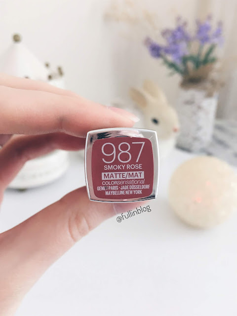 maybelline color sensational matte 987 smoky rose ruj