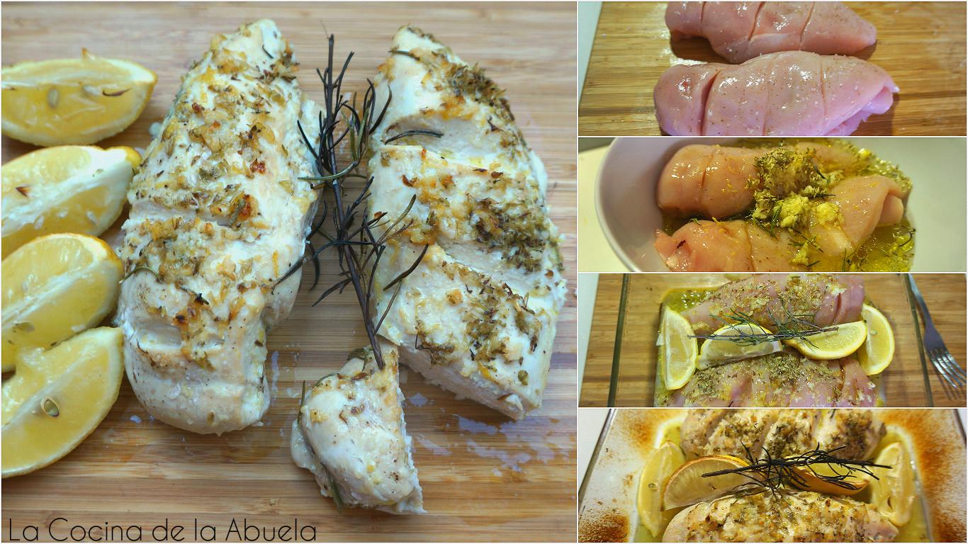 Pechugas de pollo al horno la cocina de la abuela - Pechugas de pollo al horno ...