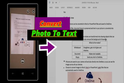 Cara Merubah foto Menjadi Teks
