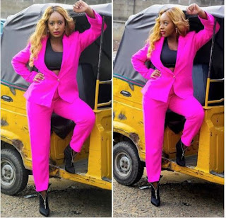 Billionaire Daughter  Dj cuppy Posses With Keke Napep.