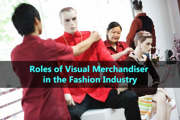 Visual merchandisers do their work