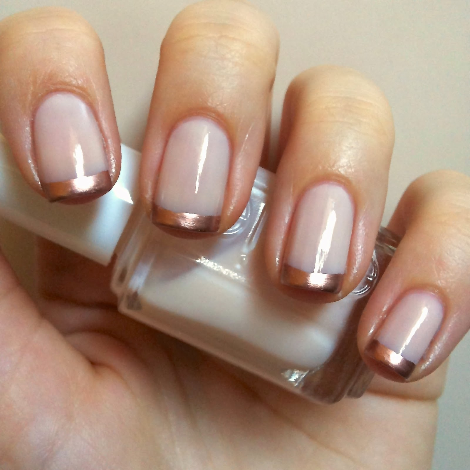 Essie Metallic Gold Nail Polish: Nails Always Polished: Rose Gold French Manicure