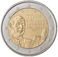 De Gaulle 2010 Ranska kolikko