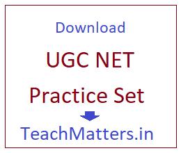 image : UGC NET Practice Set @ TeachMatters