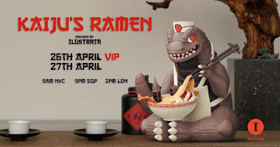 Kaiju's Ramen Vinyl Figure by Ilustrata x Mighty Jaxx