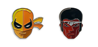 Marvel's Heroes for Hire Iron Fist and Luke Cage Portrait Enamel Pins by Tom Whalen & Mondo