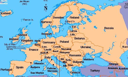 Eropa Timur Gambar Peta Benua Eropa Benua Eropa Letak Karakteristik Penduduk Dan Pembagian Wilayahnya