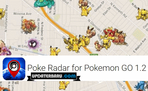 Poke Radar Apk v1.2 Aplikasi Untuk Menampilkan Lokasi Pokemon di Peta