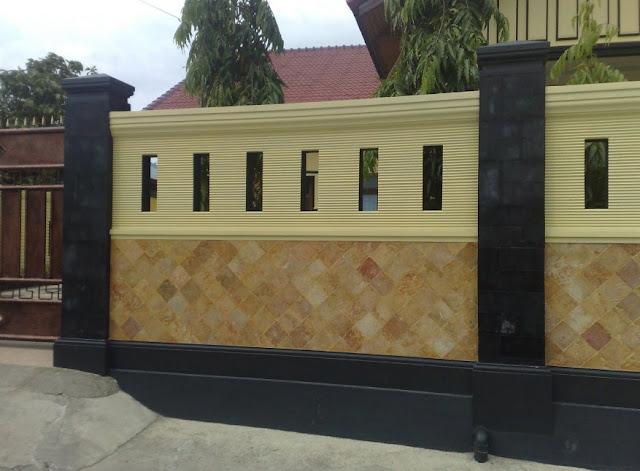 pagar batu alam minimalis modern