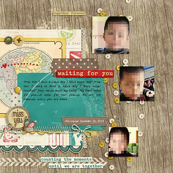 Adoption: Digital Scrapbook Page