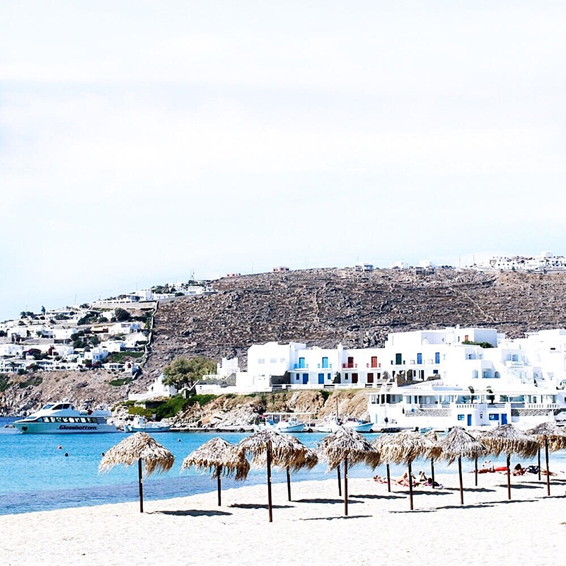 Platis Gialos beach, Mykonos island best beaches