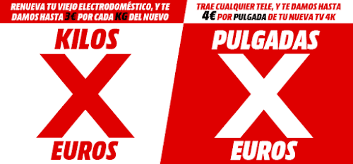 Top 10 ofertas Pulgadas X Euros de Media Markt