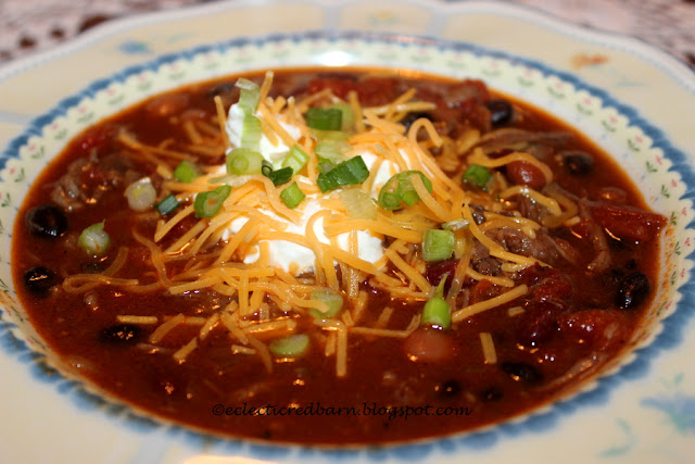Eclectic Red Barn: Loaded Beef Chili