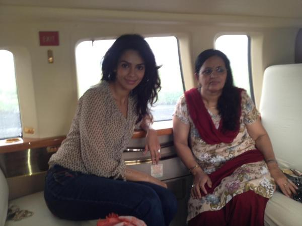 Photo: Mallika Sherawat With Her Mom!