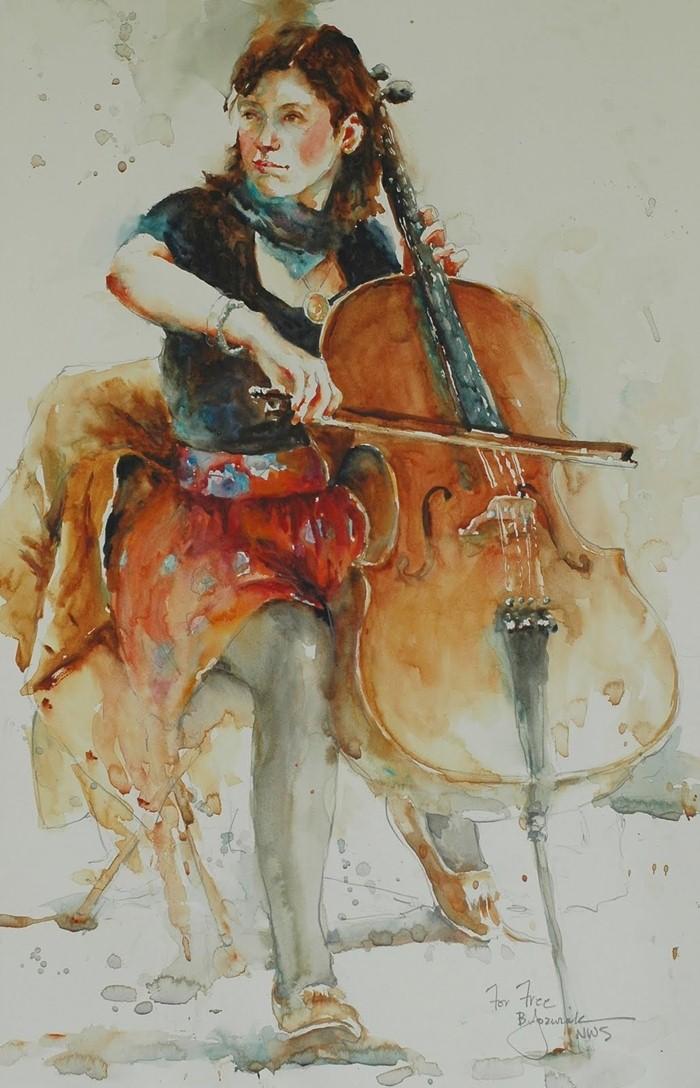 Bev Jozwiak. Рисунки акварелью 21