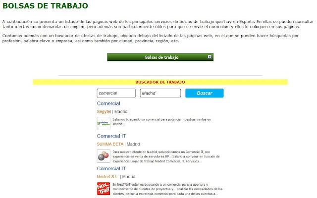 http://www.mexicanosenespana.com/bolsasdetrabajo.htm