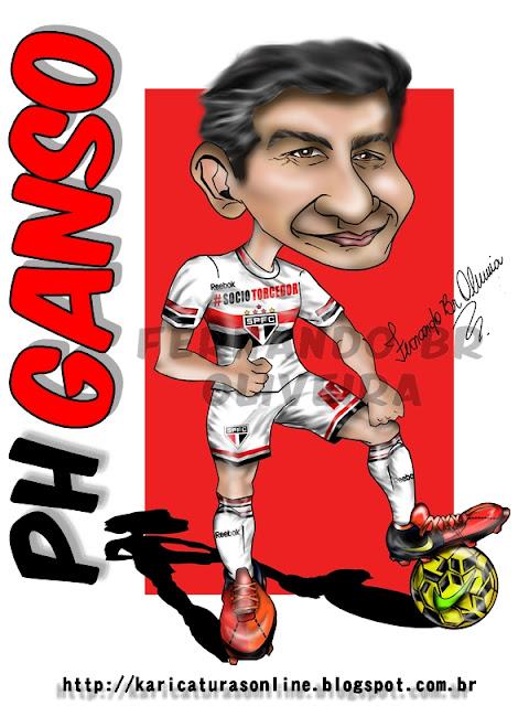 Caricatura Paulo Henrique Ganso 2015 São Paulo