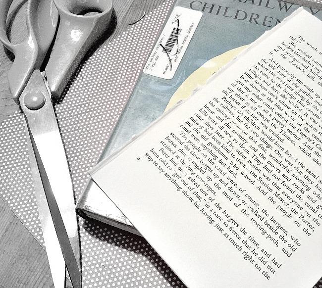 Vintage Book Page Shamrock Banner. Homeroad.net