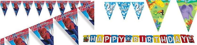 PARTY FLAGS BANNERS - It\u0027s My Birthday Shop