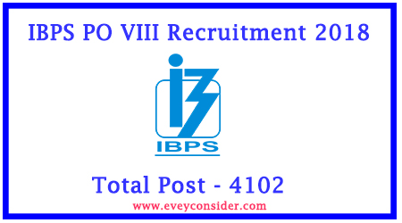 IBPS PO VIII Recruitment 2018 - Post 4102
